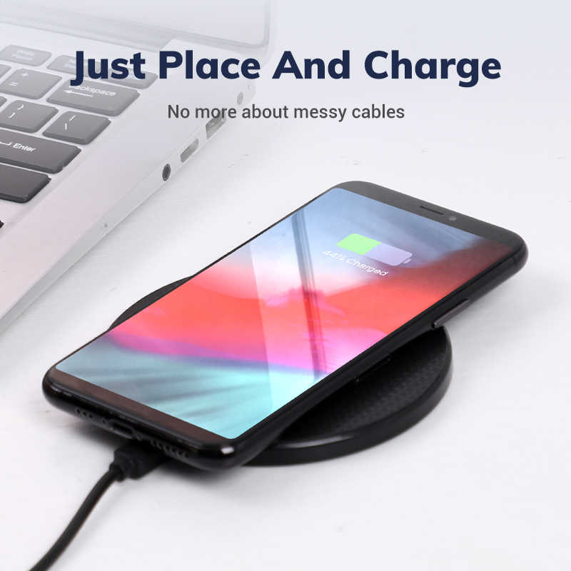 TOPK Wireless Charger 10W สำหรับ iPhone XR XS MAX X 8 PLUS Fast Wireless CHARGING Pad สำหรับ Xiaomi Samsung s10 S9 PLUS หมายเหตุ 8 9 10
