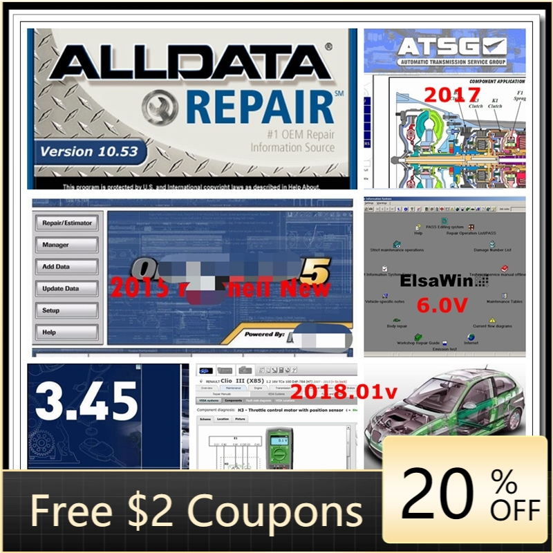 2020 Hot sale alldata software  mit  chell OD5 software for car and truck  car diagnostic tool software Auto  data 1TB HDD