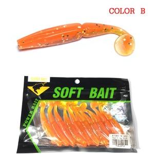 Image 3 - 10pcs Fishing Lures Soft Lure 7cm 3.4g  Pesca Leurre Souple Carp Fishing Sea Fishing For Trolling Crankbait Jig Worm Hooks Bait