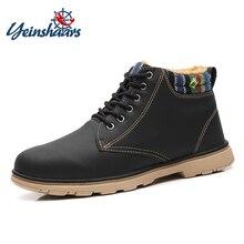 YEINSHAARS Men Boots Winter Shoes Men Waterproof Snow Boots With Warm