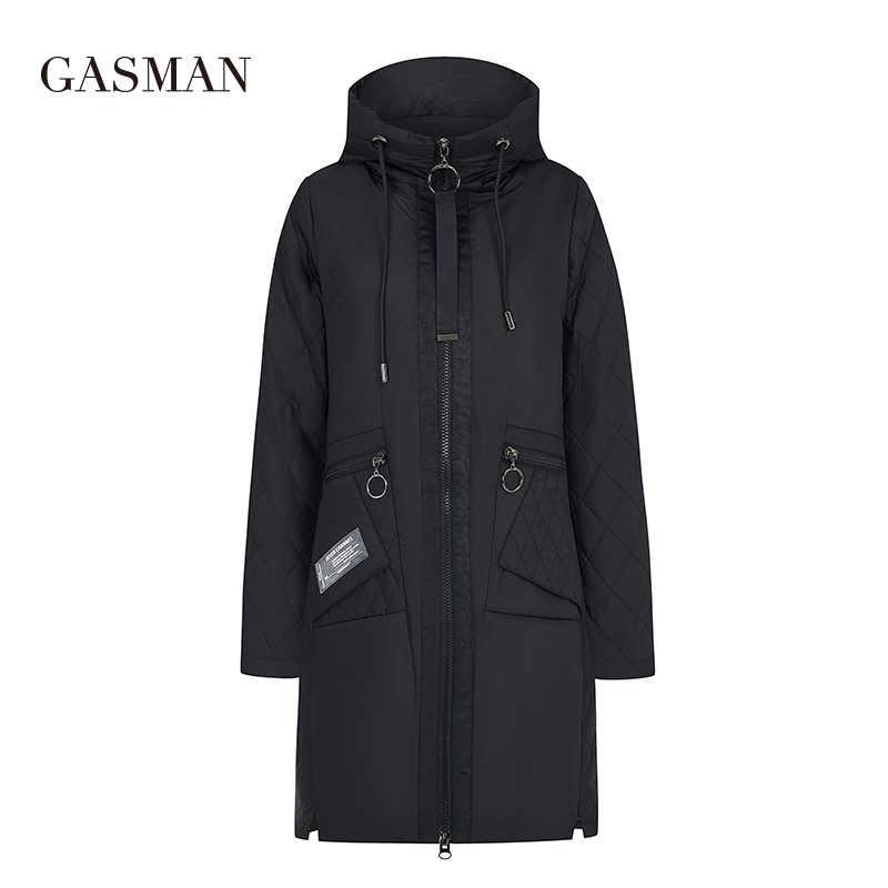GASMAN 2020 새로운 방풍 다운 재킷 코트 여성 후드 파카 재킷 가을 여성 패션 바이오 재킷 여성 얇은 퍼프 재킷