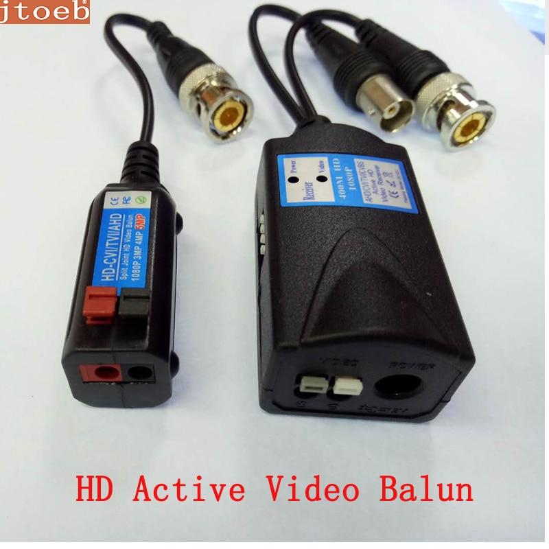 Balun vidéo actif HD transmet le signal vidéo Pal/NTSC CVI /TVI/AHD /CVBS via lalimentation UTP DC 12V jusquà 400m, fonctionne avec passi