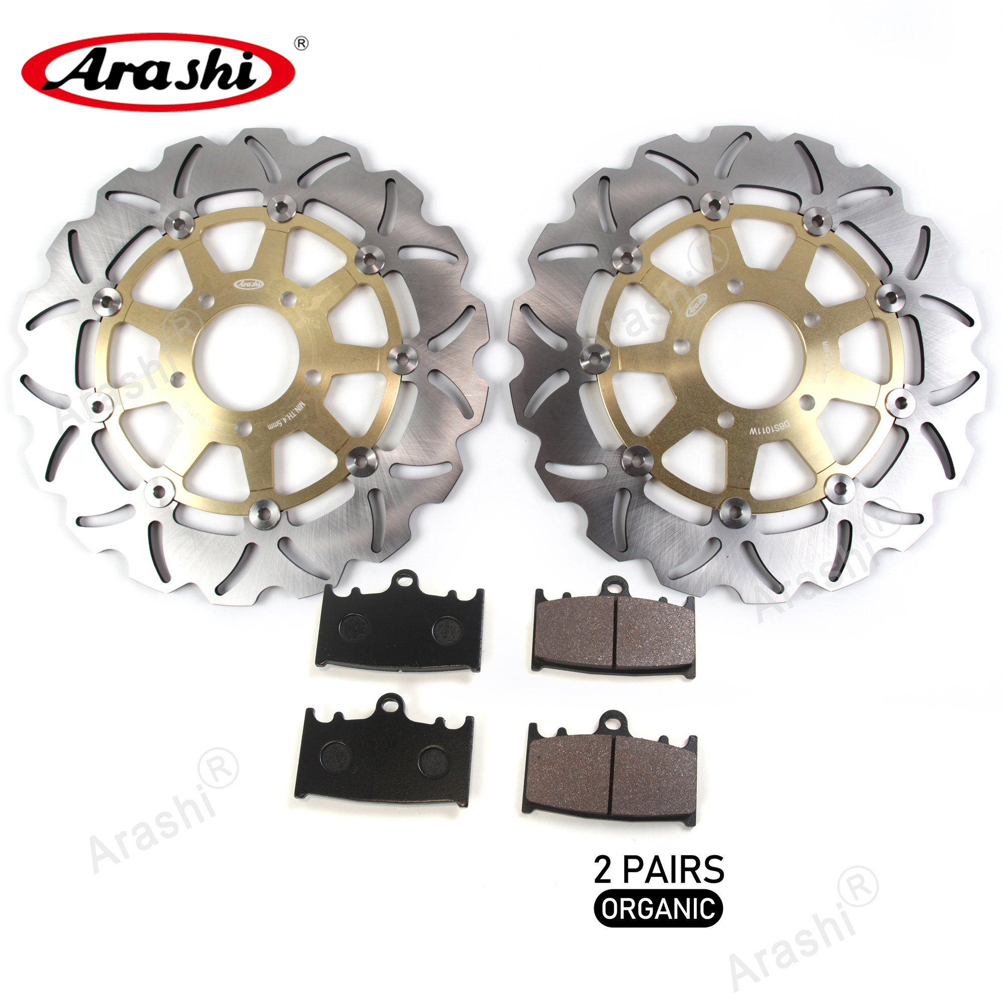 ARASHI For <font><b>SUZUKI</b></font> <font><b>SV1000</b></font> SV1000S <font><b>2003</b></font> - <font><b>2007</b></font> CNC Floating Front Brake Disks Rotors Disc Brake Pads SV SVS 1000 2004 2005 2006 image