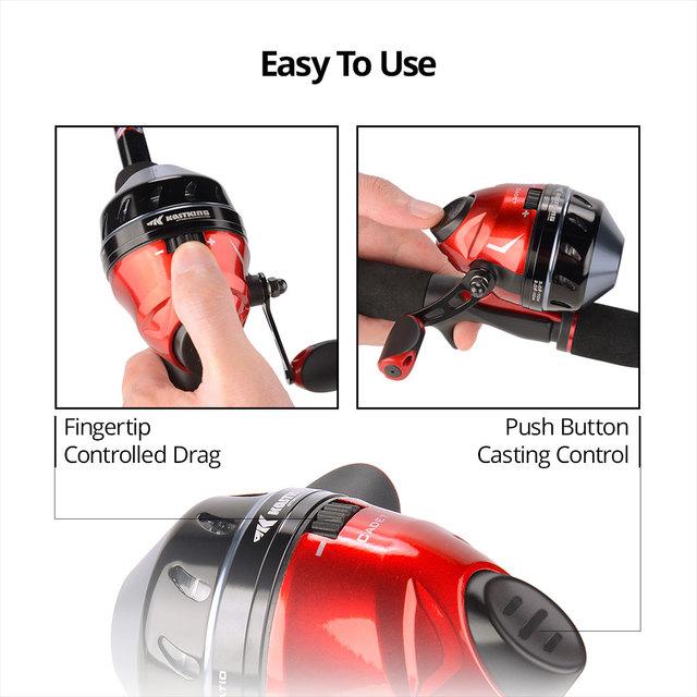 Trouble-Free Push-Button Bait Casting Reel