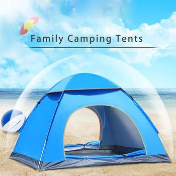 Outdoor Travel Tent Waterproof Quick Set Up Camping Hiking Tent Portable Shelter Tent For 3-4 People Camping Beach Garden