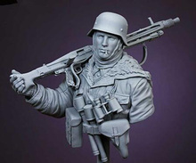 1/10 المحارب القديم في تمثال نصفي في فصل الشتاء مع قبعة الراتنج نموذج لجسم مجموعات مصغرة gk غير مصبوغ