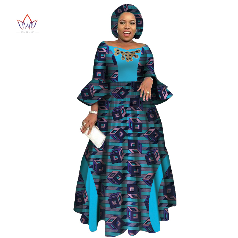 Long Sleeve Dresses For Women Party Wedding Casual Date Dashiki African Women Dresses 2019 African Dresses For Women WY3819