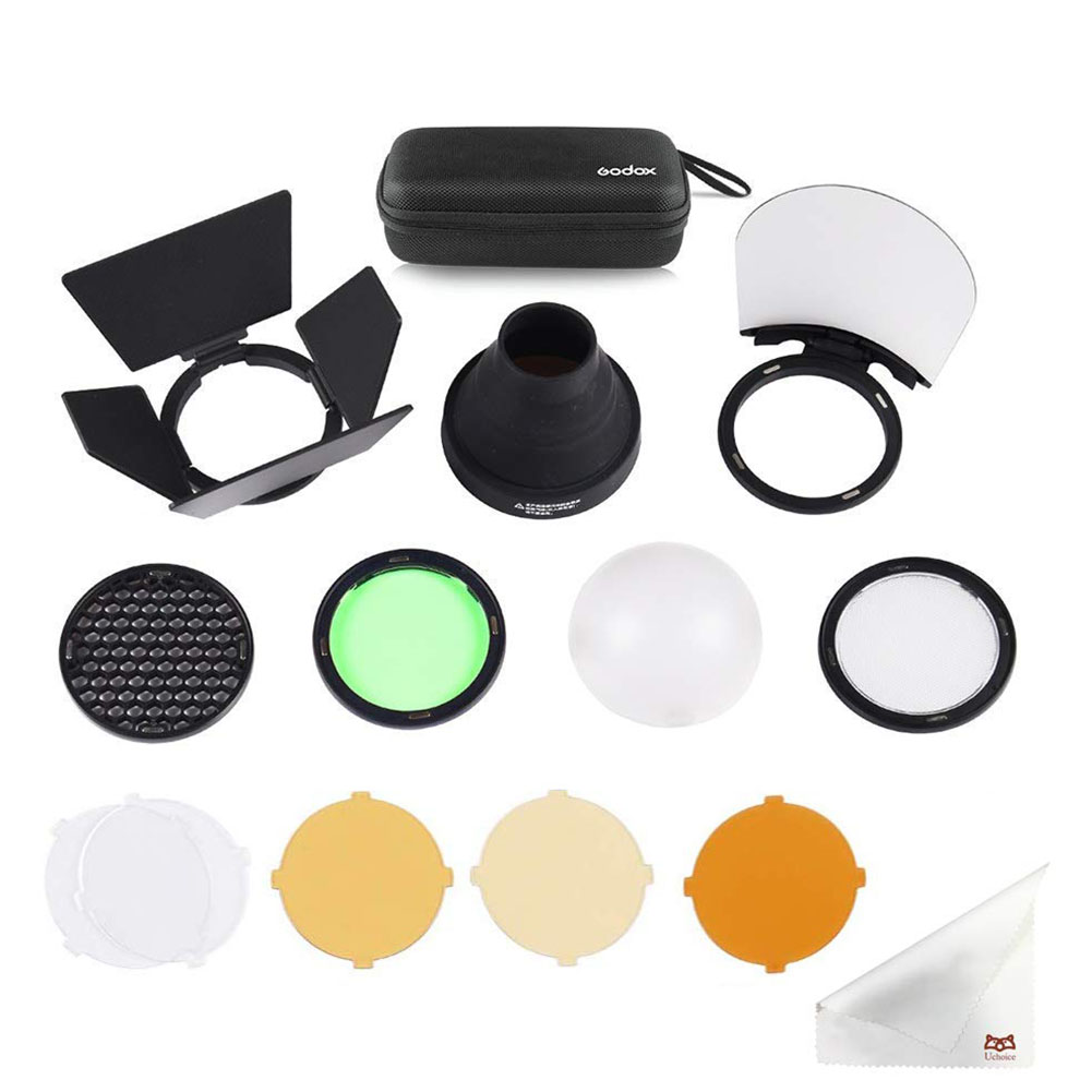 Tool Camera Parts Quick Change Carry Case Portable Round Head Mini Replacement Flash Accessory Set Kit Magnetic For Godox H200R