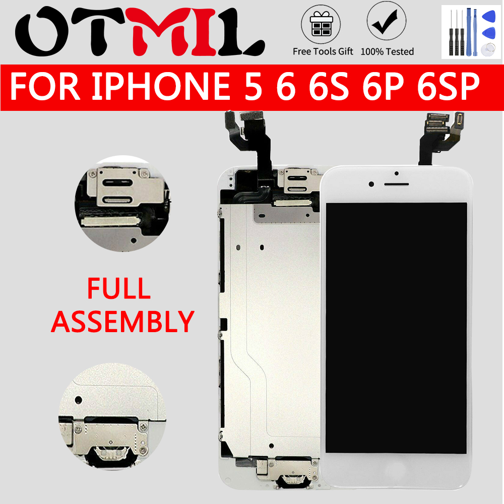For iPhone 6 6s 6P 6SP LCD full assembly LCD screen Display Touch Screen Digitizer full Replacement pantalla Button Camera LCD image