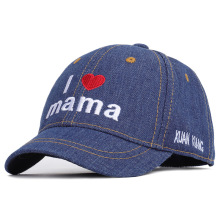 2019 Cowboy Children Hat Cute Letter Outdoor Kids I Love Mama / You