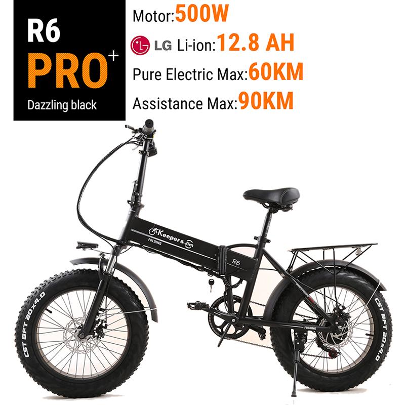 Electric font b Bike b font 26 Inch 48V 500W Fat Tire ebike Mountain Snow font