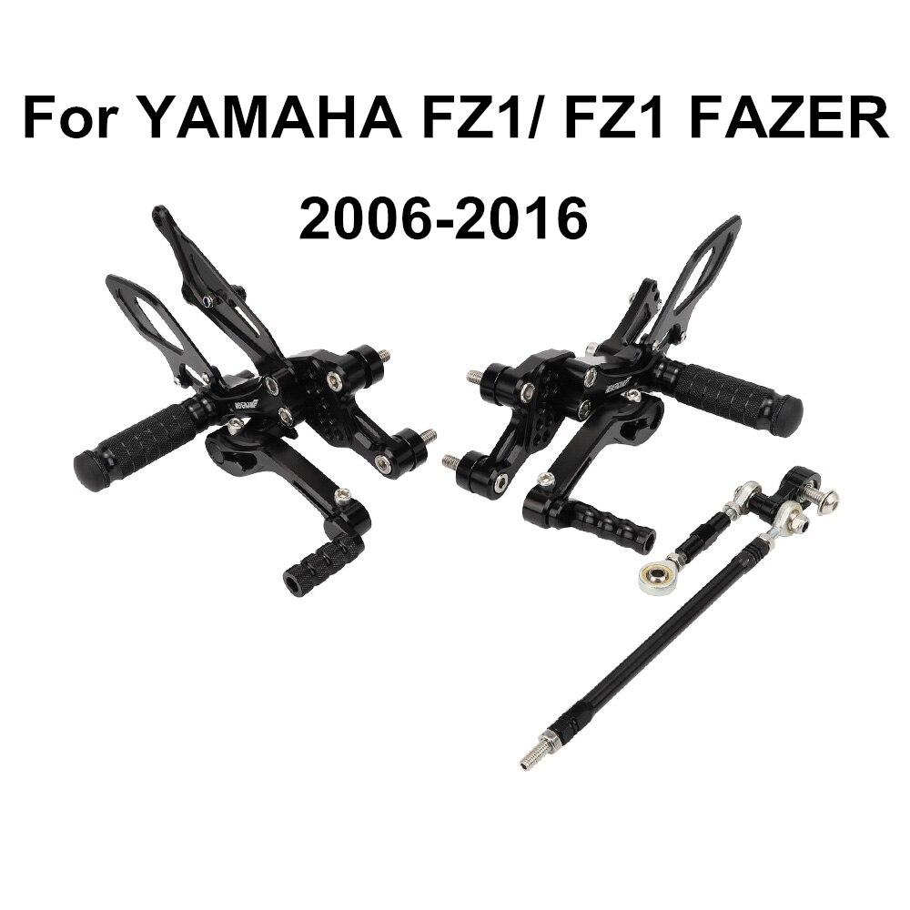 For Yamaha FZ-1 FZ 1 FZ1 FAZER Fazer 2006-2016 Motorcycle CNC Adjustable Rider Rear Sets Rearset Footrest Foot Pegs D40