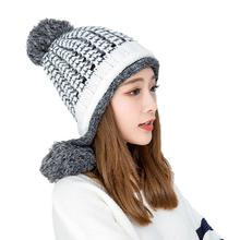 Outdoor Beanies Cap Thick Thermal Knitted Hat Headwear Snowboarding Skiing Apparel Accessories For Women