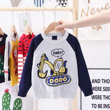 Осенний Детский свитер manboy 2020 с картонным рисунком