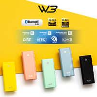 HiBy W3 USB DAC 3,5mm Drahtlose Bluetooth Kopfhörer Verstärker empfänger AK4377 UAT APTX HD LDAC CSR8675 Bluetooth 5,0 chipsatz