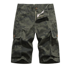 Summer Men's Cargo Casual Sweatpants Men's Short Pants Outdoor Camouflage Jumpsuit Loose Five-point Sports Shorts five point star print drawstring casual pants