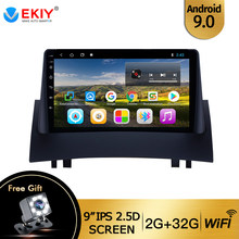 "Ekiy 9 ""IPS 2 DIN Android 9.0 Car Radio GPS Navigasi Audio Multimedia Player untuk Renault Megane 2 2002-2009 Quad-Core WIFI DVD(China)"
