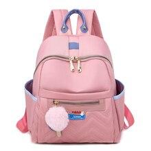 Sewing Thread Women Backpack Diamond Lattice Oxford School Book Bag for Teenage Girl Casual Female Backbag Black Lady Traval