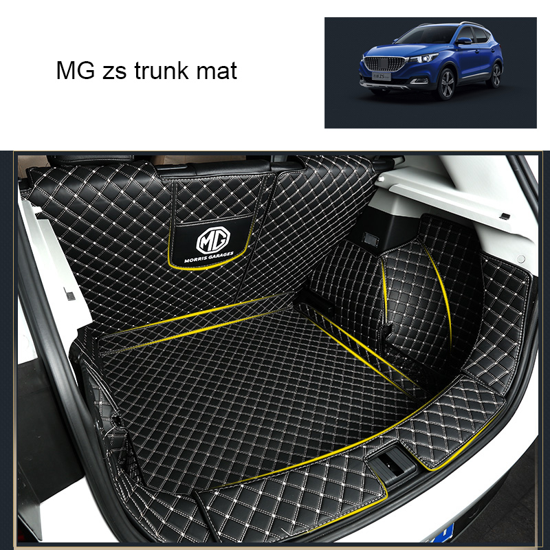 Lsrtw2017 Leather Car Trunk Mat Cargo Liner For MG ZS 2018 2019 2020 Boot Carpet Interior Accessories Covers