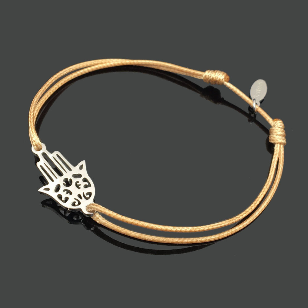 2 шт браслет желаний из нержавеющей стали, регулируемый шнур, хороший браслет, приносящий удачу, красный браслет дружбы - Окраска металла: stainles buddha hand
