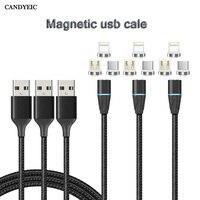 CANDYEIC 2m USB C cavi di ricarica magnetici caricabatterie cavo dati cavo di ricarica per Huawei P30 Pro Xiaomi Redmi Note6 pro cavi telefonici