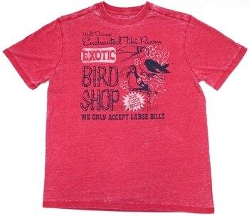 Camiseta para hombre de tienda de pájaros exóticos habitación Tiki encantada roja de parques nuevos M-2XL