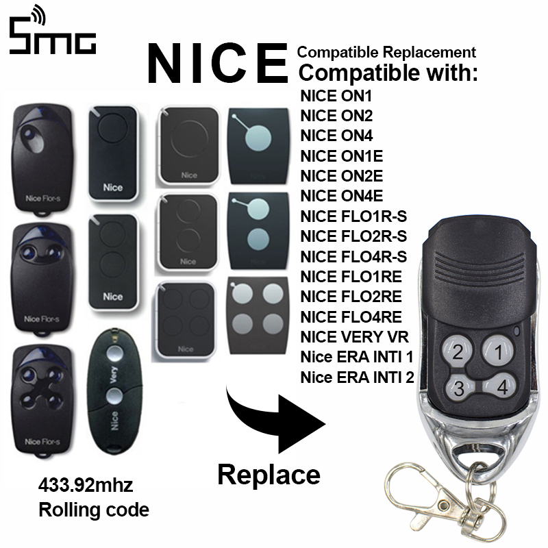 Remote-Control-Transmitter Garage Rolling-Code 433 92mhz NICE Remote-Key-Fob ERA ONE