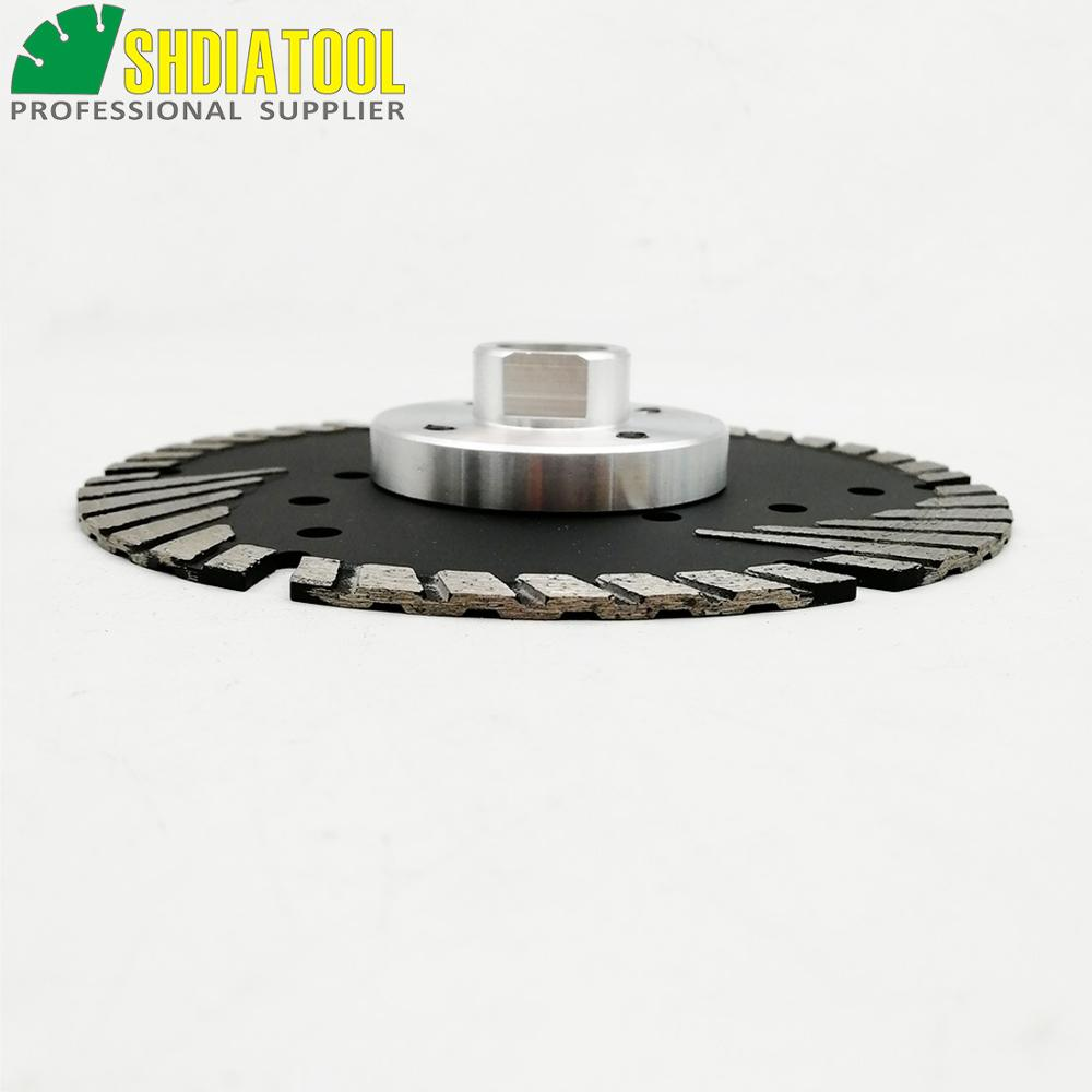 "Image 5 - SHDIATOOL M14 FLANGE Dia5""/125MM Diamond saw Blade cutting discs Deep teeth protect the core for granite marble masonry concrete-in Saw Blades from Tools"