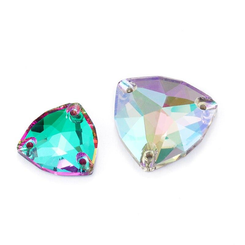 Vestido Disfraz de 12p 10x14mm Cristales Pedrería apliques coser en forma de Lágrima Cuentas en