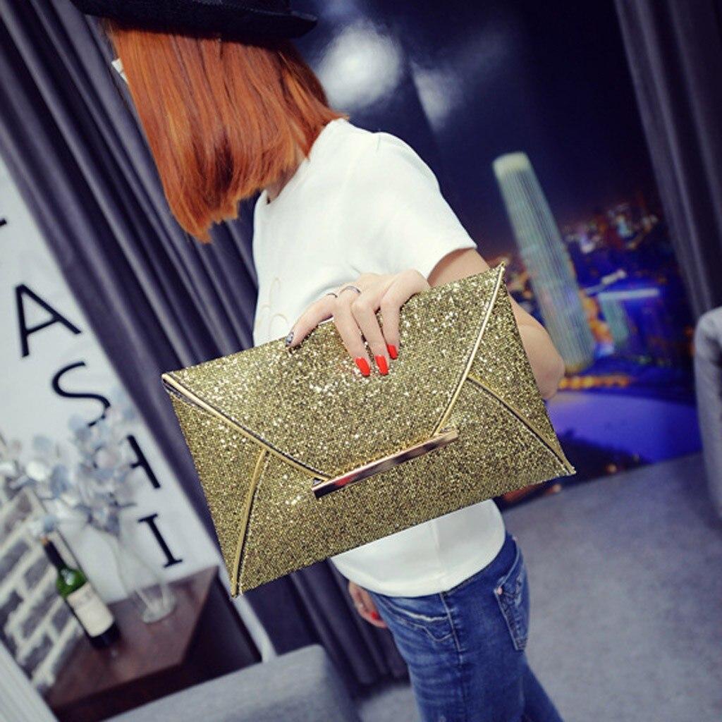 Women Evening Bag Party Envelope Clutch Handbag Glitter Sequins Sparkling Banquet Glitter Bag For Ladies Girls Wedding Clutches