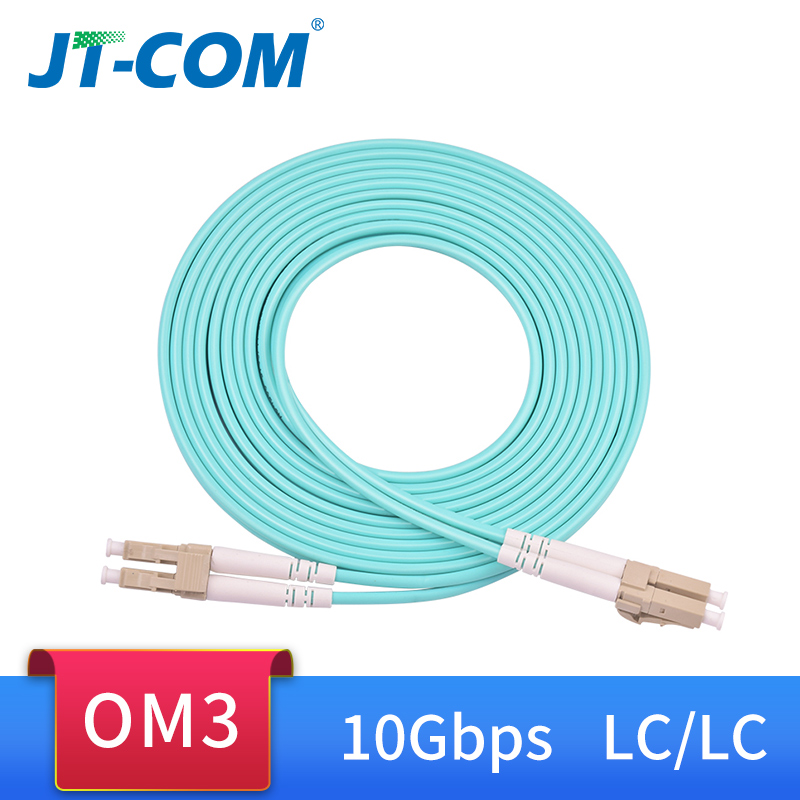 30M LC UPC to LC UPC Duplex OM4 Multimode 3.0mm Fiber Optic Patch Cord Cable