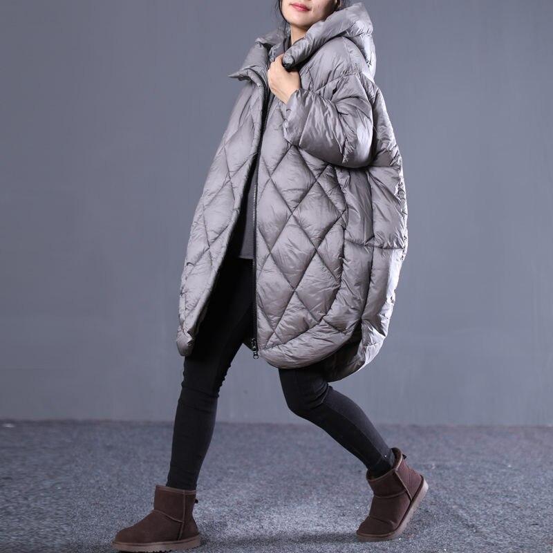 Casulo Casaco coreano Mulheres Jaqueta de Inverno Parka Com Capuz Longo Outwear Plus Size de Algodão Acolchoado Roupas abrigos mujer invierno f1568 - 3