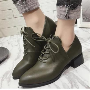Image 4 - Ladies British vintage chunky  street shoes 2020 autumn European new style students with simple shoes elegant and  womens shoes