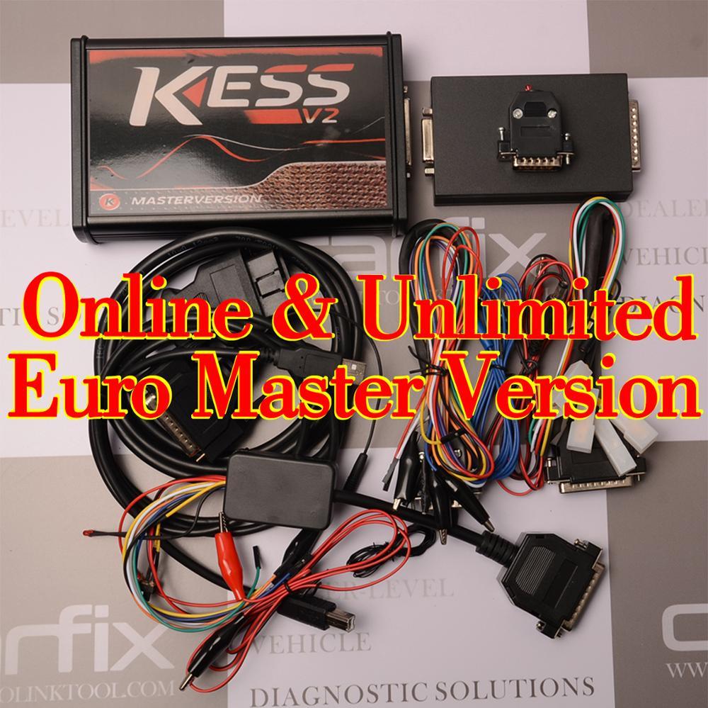 Carfix RED KESS V2 V5.017 EU Master Online 100% No Tokens Unlimited OBD2 Car Truck ECU Reprogrammer