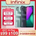 Infinix HEIßER 10 SPIELEN 2GB + 32GB /4GB + 64GB Globale Version smart telefon 6.82 ''HD + Display 6000mAh Helio G35 handy