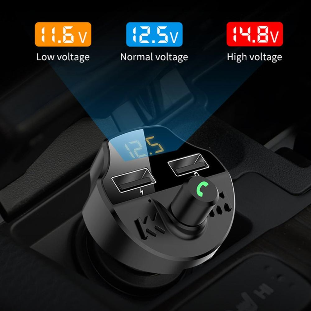 Car MP3 Cigarette Lighter U Disk Music Player Mounted Receiver Transmitter Fast Charge Car Charger