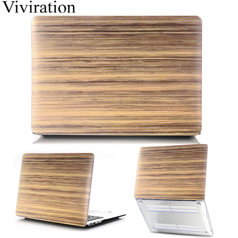 Wood Grain Laptop Case For MacBook Air 13 Pro 15 Retina 11 12 Inch With Touch Bar PC Replace Cover A1706 A1707 A1990 A1932 A2159