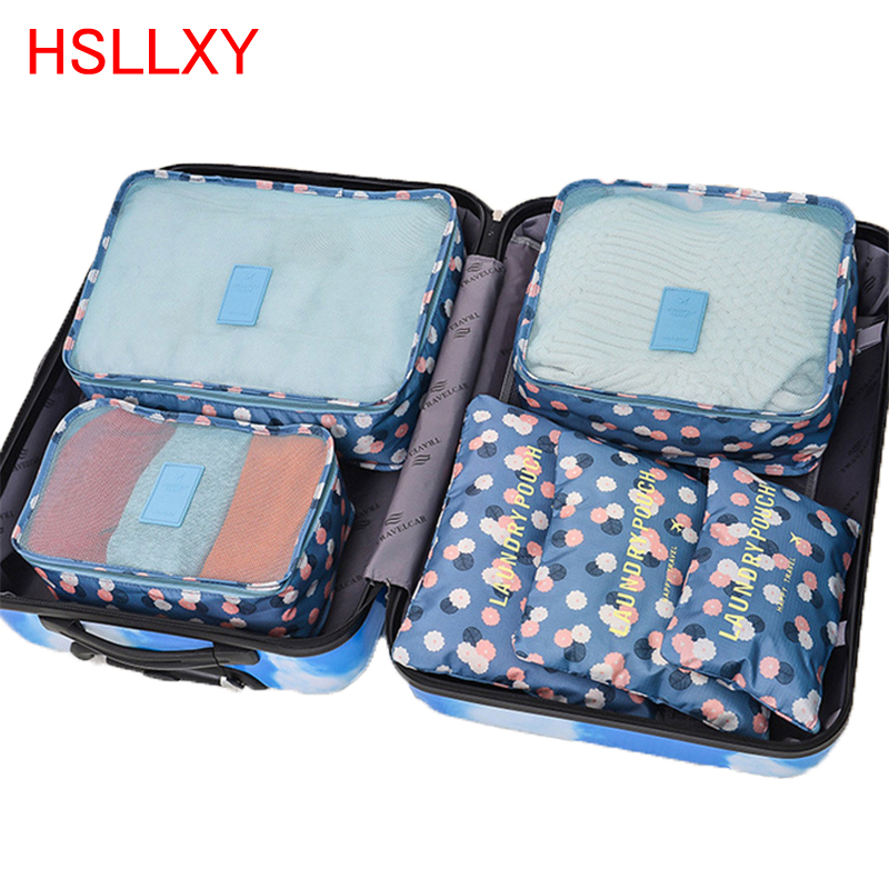 Travel 6 PCS Packaging Cube Bag System Durable 6 Piece Large Capacity Unisex Clothing Classification Bag Packaging For Travel