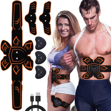 ABS Muscle Stimulator Toner EMS Trainer Vibration Massage Abdominal Toning Belt Abdomen Arm Leg Body Slimming Shaper Weight Loss