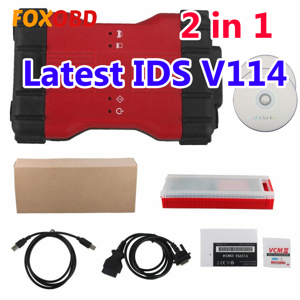 Full Chip VCM2 VCM II 2 In 1 Diagnostic Tool For Ford IDS V114 And Mazda IDS V114 Install In One Computer Support Cars To 2019
