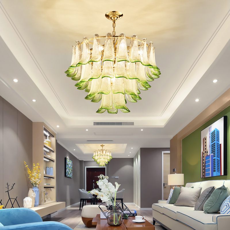 Postmodern Minimalist Living Room Chandelier Creative Personality Glass Lamp Study Bedroom Restaurant Bar Lamp