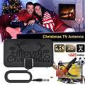 Новейшая антенна HD для цифрового ТВ, Рождественская Мини-Антенна HD, радиус действия 1225 миль, 4K FullHD1080P Freeview TV для жизни, местные каналы