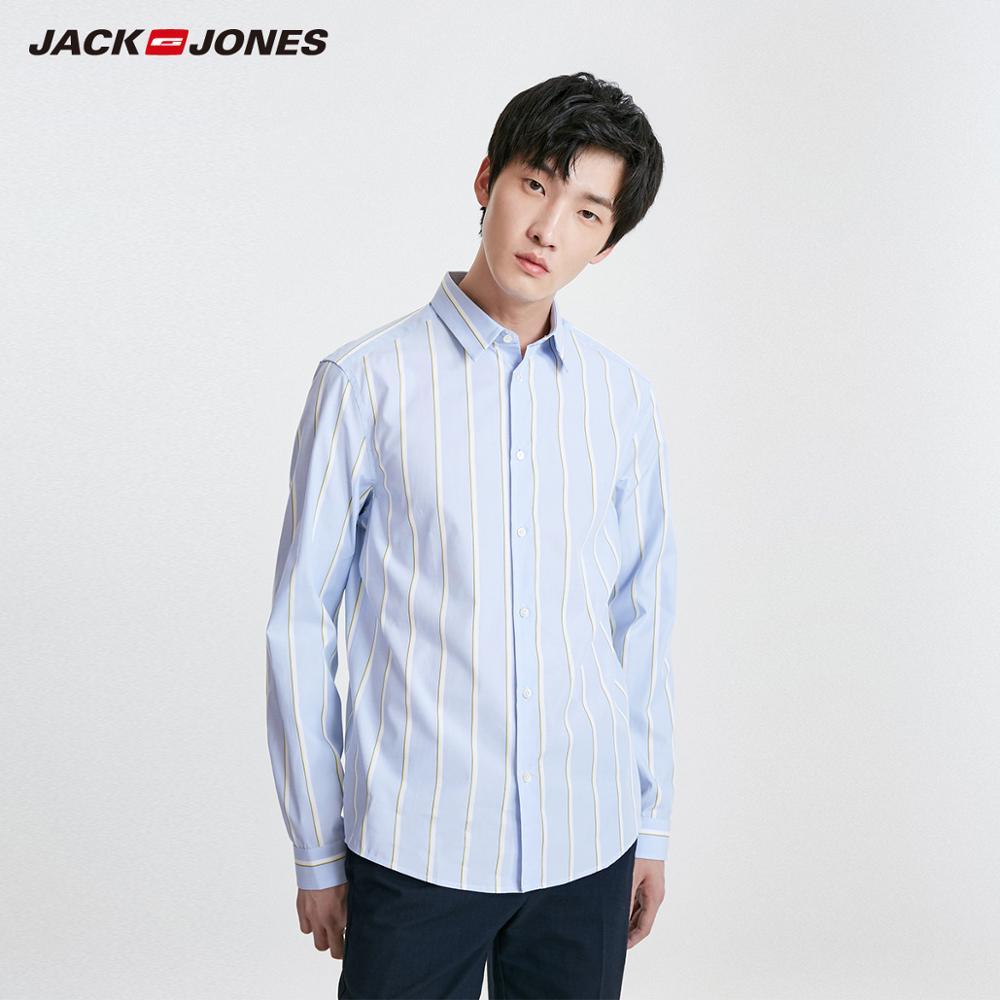 JackJones Men's Casual 100% Cotton Contrasting Stripes style Shirt Menswear| 219105514