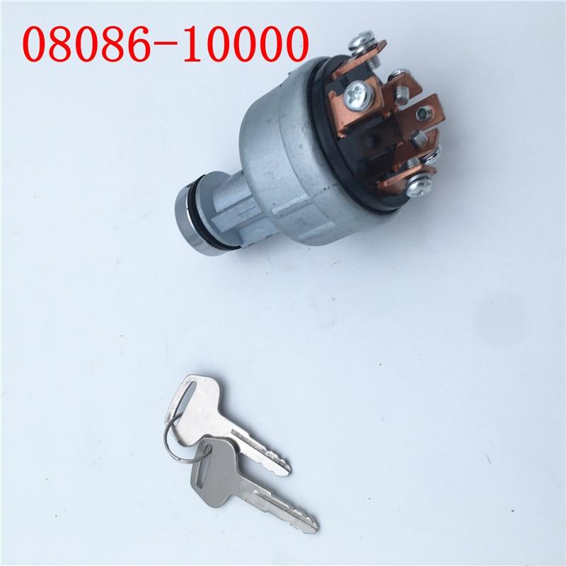 ignition switch 08086 10000 for Komatsu excavator PC60/120/200/210/240/250/300 5 6 7 switch|Odometer Sensor| |  - title=