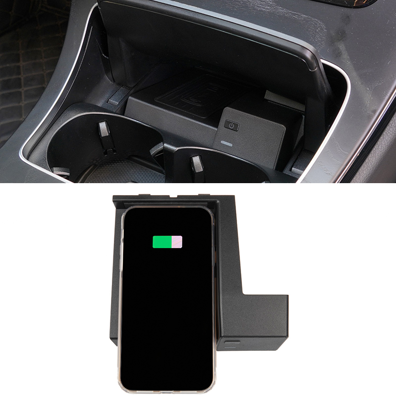 Car QI wireless charger for Mercedes Benz CLC C Class <font><b>W205</b></font> C180 <font><b>C200</b></font> <font><b>AMG</b></font> C43 C63 phone charger charging case accessories image
