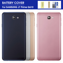 Batterij Back Cover Voor Samsung Galaxy J7 Prime G610F G610 On7 2016 Metalen Behuizing Achter Deur Case Vervanging Onderdelen