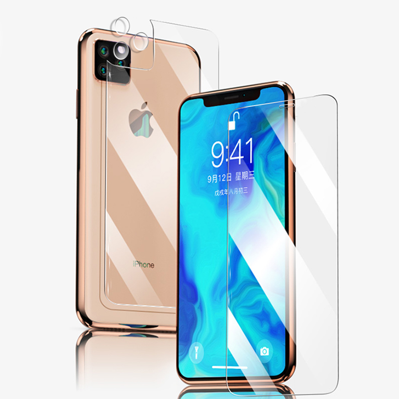 HD Front+Rear Back+Lens Camera Film For IPhone 11 Pro Max 11 2019 Tempered Glass Full Body Screen Film Protector For IPhone 11