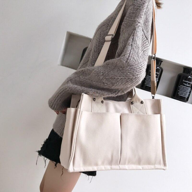 Handbag Business Tote Briefcase-Design Travel-Shoulder-Bag Canvas School-Books Portable