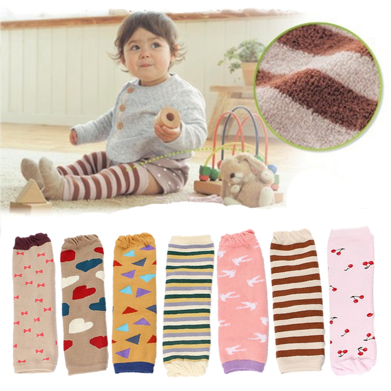 Baby Leg Warmers Kids Knee Protector Thicken Cotton Leggings Toddler Kneepads Winter Newborn Safety Crawling Socks Knitted