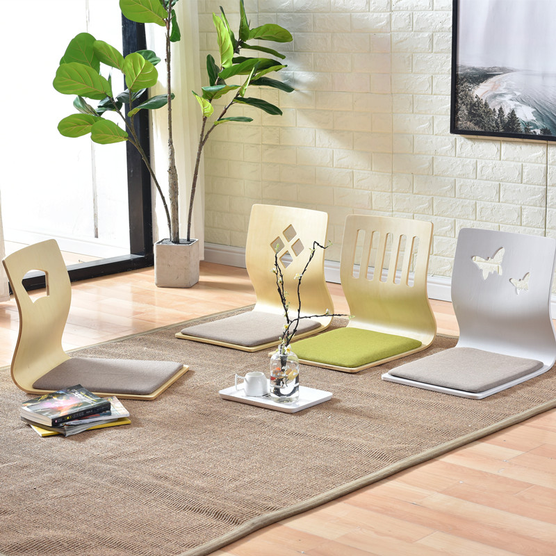 4pcs/lot Wholesale Furniture Japanese Tatami Chair Seat Cushion Included 3 Color Living Room Zaisu Floor Legless Chair Design